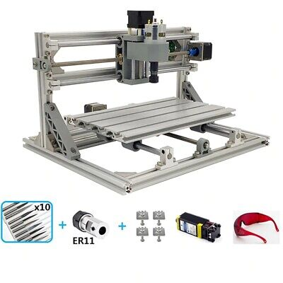 Cnc 3018 Engraving Router 7w Laser Module Carving Milling Diy Cutting Machine