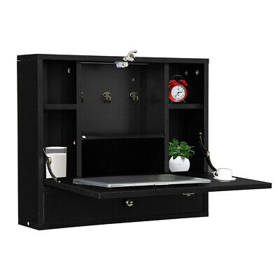 Wall Mounted Floating Folding Computer Desk Bedroom Home Office Table Furniture - $69.99