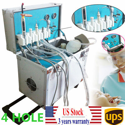 Dental Delivery Unit Rolling Case With Weak Suction Air Compressor And Scaler Us