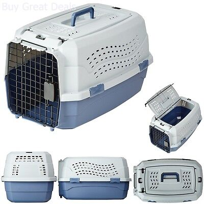 """23"""" Two Door Top Load Pet Kennel Carrier Travel Crate Cage Dog Puppy Cat Box NEW"""