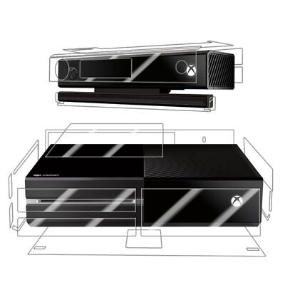 Skinomi Clear Full Body Protector Film Cover for Microsoft Xbox One+Kinect Combo