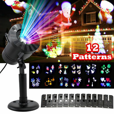 12 Pattern Motion Christmas Landscape Lights Projector LED Spotlight Waterproof - Snowflake Light