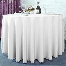 10x 120 Inch White Wedding Round Table Cloth Party Hotel Different Occasions UK