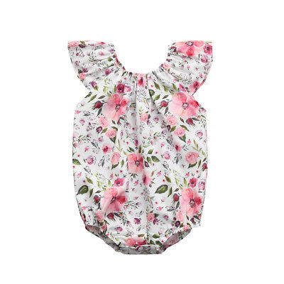 Floral Outfit Girl - Toddler Kids Girl Floral Print Romper Playsuit Jumpsuit Outfit Sunsuit Clothes