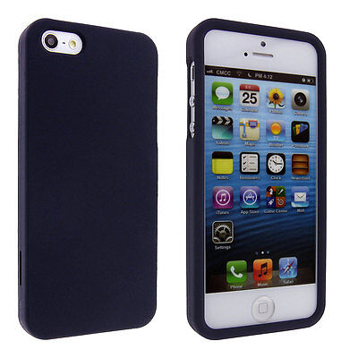 Navy Blue Snap On Hard Case Cover for iPhone 5 5S (Blue Hard Case Snap)