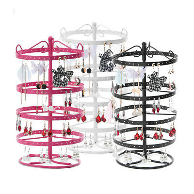 Rotating Earrings Ear Stud Jewelry Display Stand Cases Holder Racks Fixtures