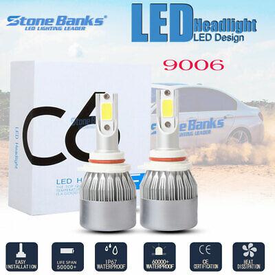 2X HB4 9006 LED Headlight Lamp Light Bulbs Conversion Kit 100W 20000LM HID