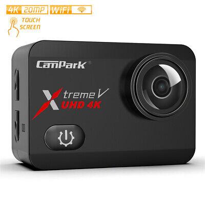 Campark Action Cam 4K 20MP WiFi Wasserdichte 40m Unterwasserkamera Touch Screen
