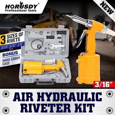 New Pneumatic Air Hydraulic Pop Rivet Gun Riveter Riveting Tool Wcase Free Ship