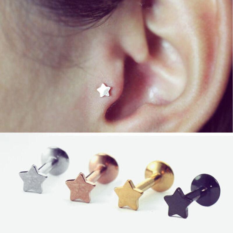Details About Lip Body Piercing Jewelry Cartilage Helix Tragus Earrings Ear Studs Star Shape
