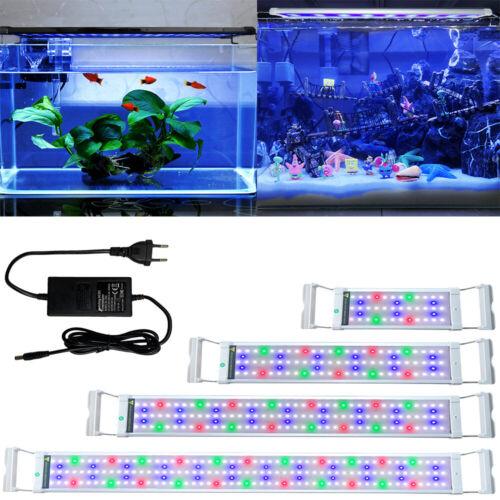 LED Aquarium Beleuchtung Abdeckung Lampe RGB &Vollspektrum Aufsetzleuchte Lampe