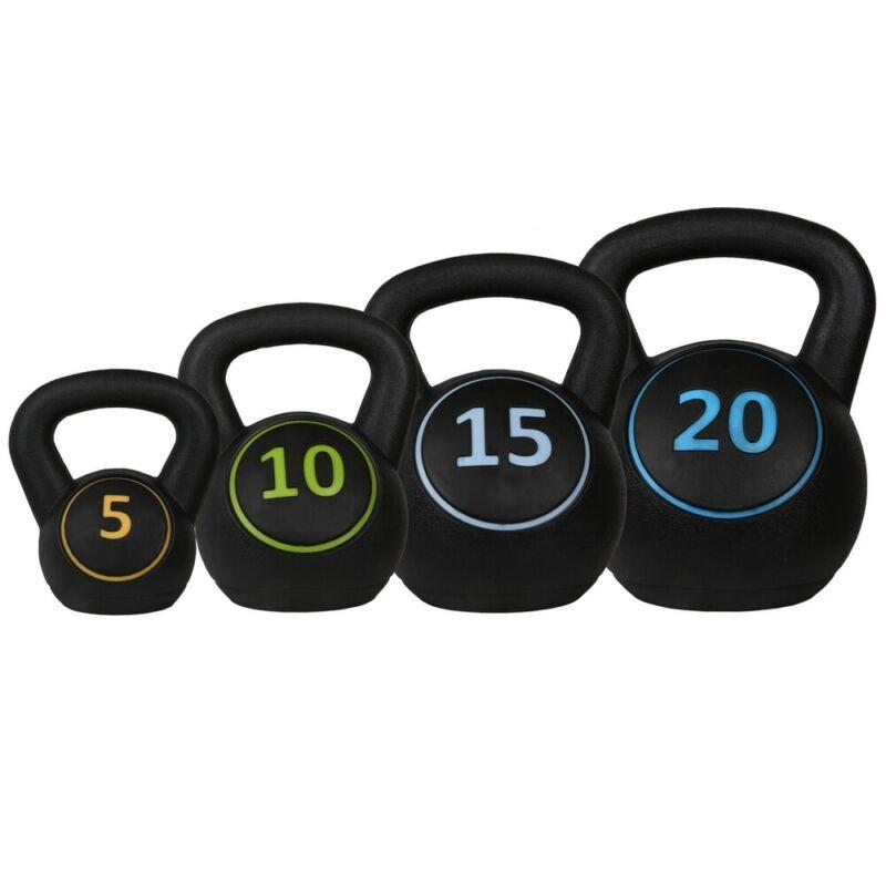 Confidence Fitness Pro Vinyl Kettle Bell Weight Set - 4 Kettlebells