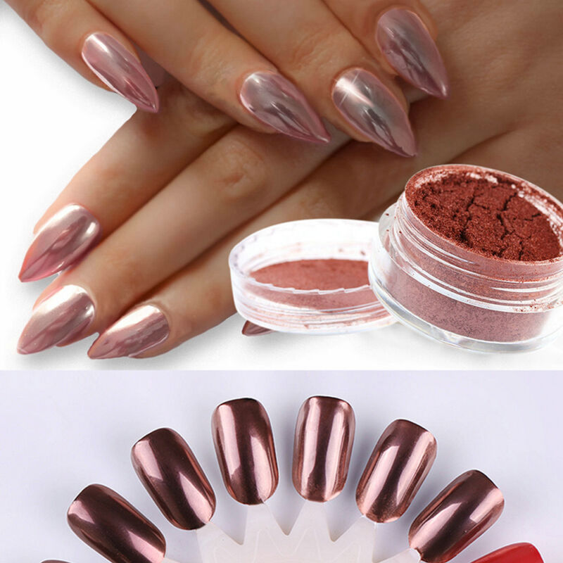 Sexy Rose Gold Nail Mirror Powder Nail Glitter Chrome Powder Nail Art Decoration