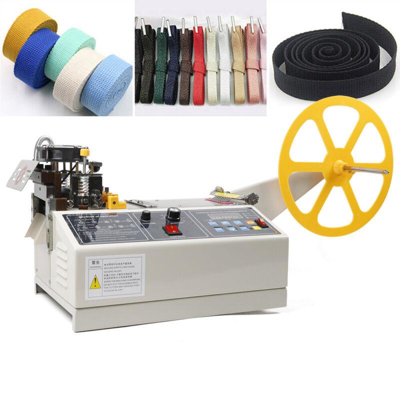 Automatic Textile Ribbon Cutter Hot & Cold Belt Cutting Machine 110mm Width 280W