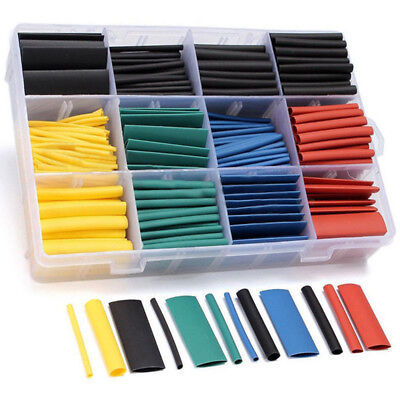 530 Pc 21 Heat Shrink Tubing Tube Sleeving Wrap Cable Wire 5 Color 8 Size Us
