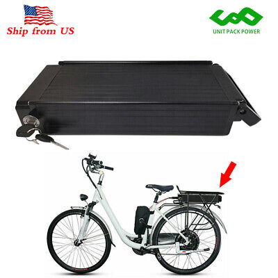 48V 15Ah 1000W Rear Rack E-bike Li-ion Battery for Electric Bicycle with Charger