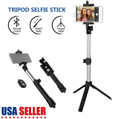 Best Extendable Selfie Stick With Remote Control Shutter+Tripod Mount For