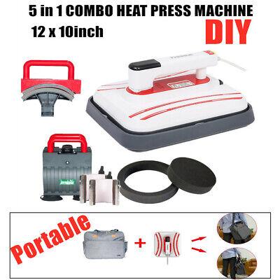 Us 12 X 10inch Portable Iron T-shirt Heat Press Transfer Printing Machine 5 In 1