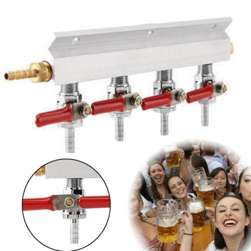 "3 Way 5//16/"" Barb CO2 Gas Distribution Manifold w// Check Valve Beer Keg Splitter"