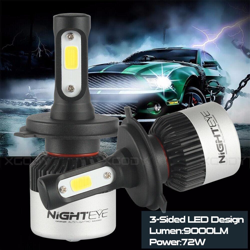 Car Parts - NIGHTEYE H4 9003 HB2 LED Headlight Bulb Light Hi/Lo Beam Kit 6500K HID White 2Pc
