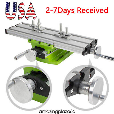 Worktable Milling Machine Table Cross Slide X Y Axis Bench Drill Press Vise Usps