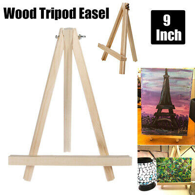 Mini Easel Stand (Mini 9'' Wood Easel A-Frame Artist Photo Painting Tabletop Portable Tripod)