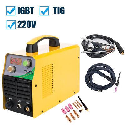 Igbt Dc Inverter 200amp Tig Welding Machine Complete Accessories 220v Welder
