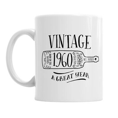 60th Birthday Gift 1960 Present Idea For Men Women Ladies Dad Mum Happy 60 Mug ()
