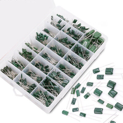 700pcs 24 Values Mylar Polyester Film Capacitor Resistance Assortment Kit A4w8