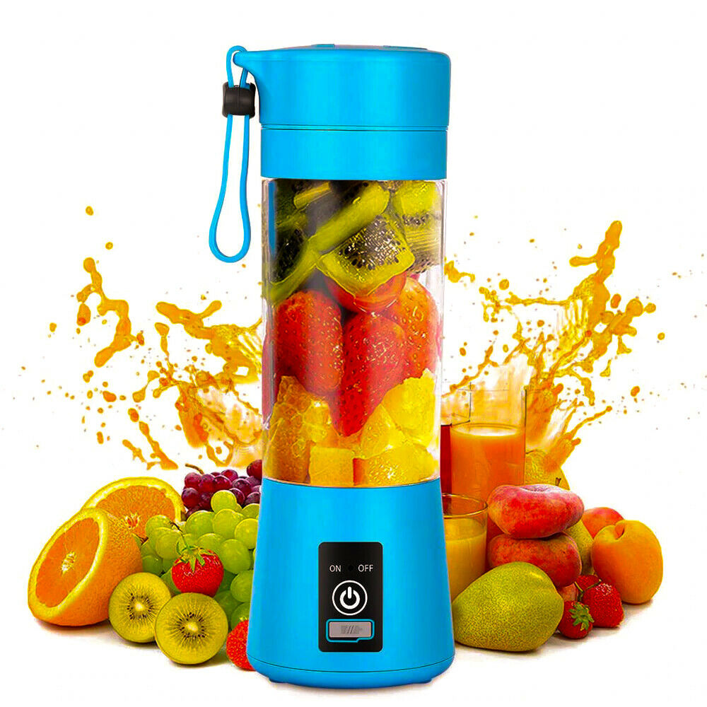 6 Blade 380ml Personal Portable Blender USB Rechargeable Min