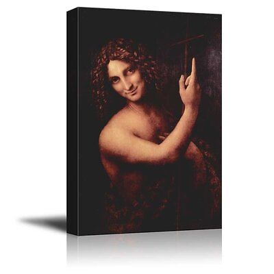 St. John the Baptist by Leonardo da Vinci - Canvas Print Wall...