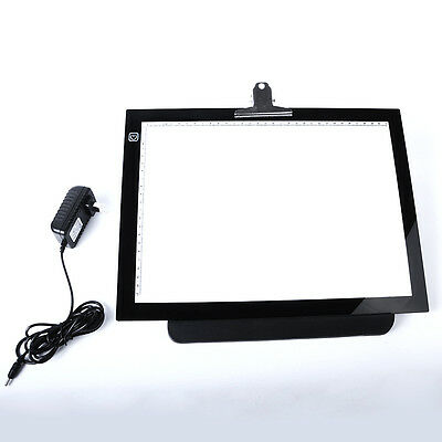 "16""  LED Artist Stencil Board Tattoo Drawing Tracing Table Display Light Box Pad"