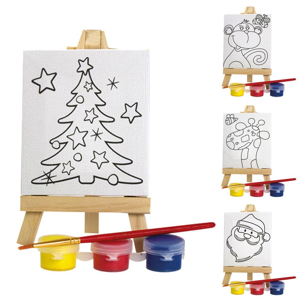 Set Pittura Cavalletto Bambini Natale - Calza di riempimento Favore di partito