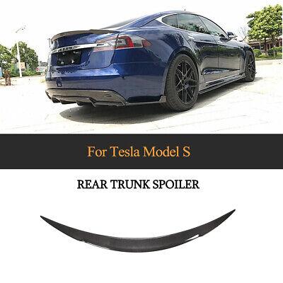 Fit For Tesla Model S 2014-2019 Rear Trunk Spoiler Lid Wing Refit Carbon Fiber