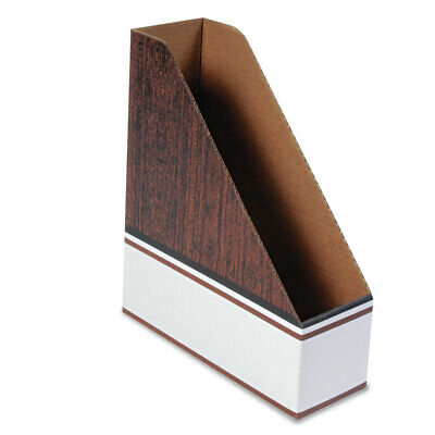 Bankers Box 07224 Corrugated Cardboard Magazine File Wood Grain12carton New