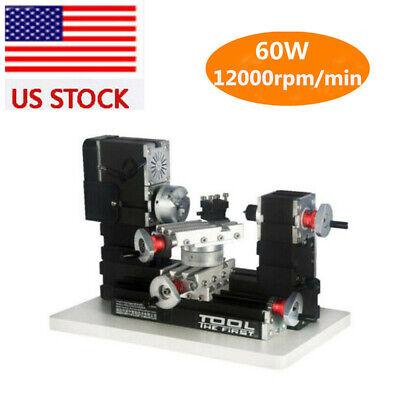 Us Stock Metal Rotating Lathe Motor Diy Tools Drilling Machine 12000rmin 60w