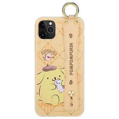 Sanrio Genuine PomPomPurin hand strap Ring Case Cover Apple iPhone 11 Pro MAX S