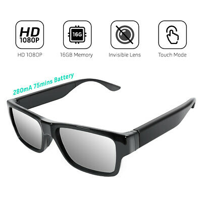 Sonnenbrille versteckte Kamera FULL HD Videoüberwachung Freizeit Aufnahme A22