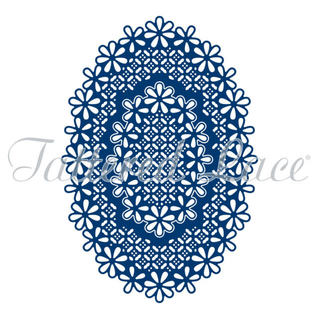 Tattered Lace Cutting Dies Essentials LACED EDGE OVALS ETL361