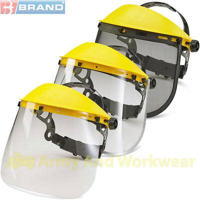 Visors Headgear Set Clear Metal Edge Mesh Work Safety Eye Face Shield Protect