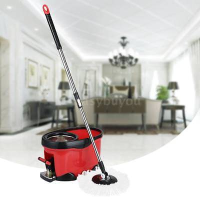 Hands-free Stainless Steel 360°Rolling Spin Mop & Bucket Set Foot Pedal P1A0