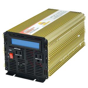 24V DC to 110V AC Power Inverter Charger 3000 Watts PIUB-3000-24X Pure Sine Wave