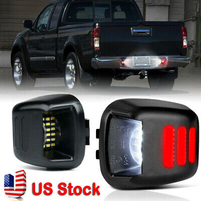 2x LED License Plate Lights Lamps SET For Nissan Frontier Xterra US