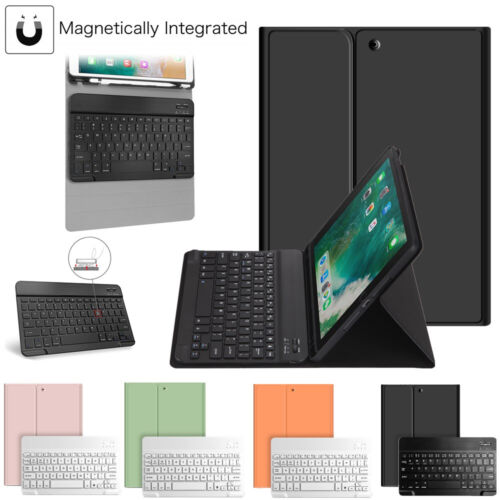 For iPad 8th Gen 10.2″ 2020 Bluetooth Keyboard Case Stand with Pencil Holder US Cases, Covers, Keyboard Folios