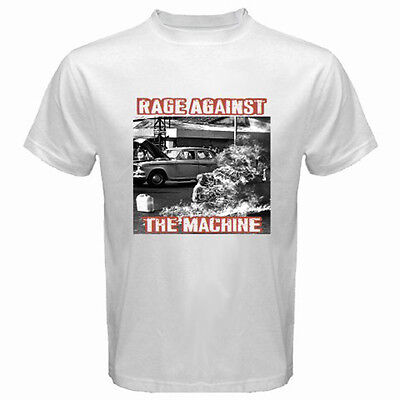New RAGE AGAINST THE MACHINE RATM '92  Rock Band Men's White T-Shirt Size S-3XL
