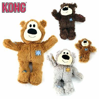 KONG Plüsch-Hundespielzeug Wild Knots Bärchen - Spielzeug Kuscheltier mit Seil