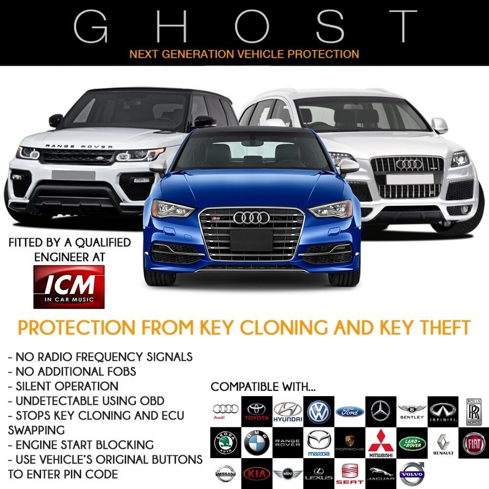 Autowatch Ghost 2 immobiliser Car Van Key Clone Theft Protection BMW