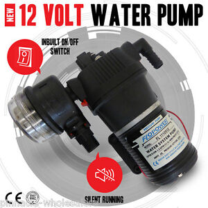 NEW High Pressure 12.5 Litre/Min 35Psi New In Box 12 Volt Water Pump With Filter