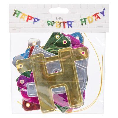 Alles Gute Zum Geburtstag Partydekorationen Banner mit 1.4m Goldfarbene Schnur