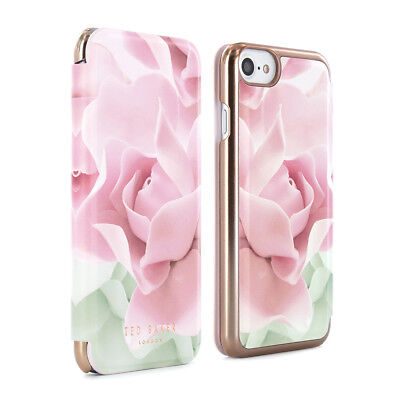 iPhone 8 TED BAKER Womens Floral Folio Case Cover - KNOWAI Nude